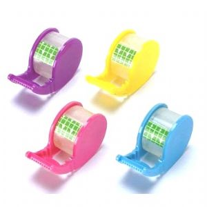 1 x Sticky TAPE Dispenser Roll - Coloured Mini Stationery